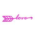 typography word love starts vector image vector image