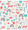 valentines day seamless pattern digital paper vector image