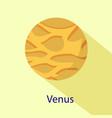 venus planet icon flat style vector image