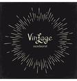 Vintage monochrome Sun Sunburst Starburst vector image vector image