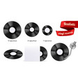 vinyl records realistic vector image vector image
