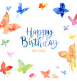 watercolor butterfly drawing vector image vector image