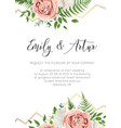 wedding floral invite invtation save the date card vector image vector image