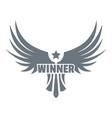 winner wing logo simple gray style vector image vector image
