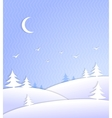 Winter background scene ice cold vector image