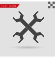 Wrench icon Flat Style with red vector image vector image