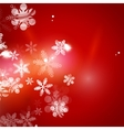 Holiday red abstract background winter snowflakes vector image