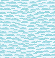 Seamless pattern with clouds vector image