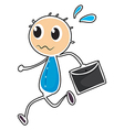 A sketch of a boy holding an envelope vector image