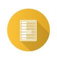 abacus flat design long shadow glyph icon vector image vector image