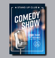 banner invitation to comedy show in club vector image vector image