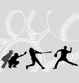 baseball players silhouettes on the abstract vector image vector image