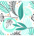 beautiful hand drawn plants seamless pattern vector image vector image