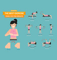 best exercise poses for firm breasts vector image