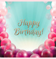 birthday card frame with balloons vector image vector image