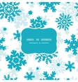 Blue Frost Snowflakes Holiday Frame Seamless vector image