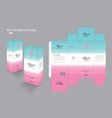 box packaging packaging design template vector image vector image