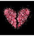 Broken heart shape for your design vector image vector image