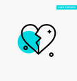 broken love heart wedding turquoise highlight vector image vector image