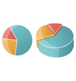 business pie chart graph vector image