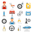 Car Repair Service Flat Icons Set vector image vector image