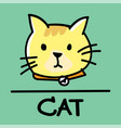 cat hand-drawn style vector image