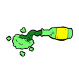 comic cartoon spilled green potion vector image vector image