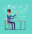 concept of virtual reality vector image vector image