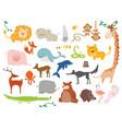 creative cute wild animals vector image