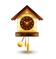 cuckoo-clock isolated on white vector image vector image