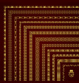 decorative corner borders and frames in gold vector image vector image