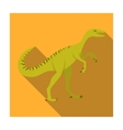 Dinosaur Gallimimus icon in flat style isolated on vector image vector image