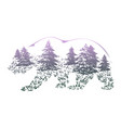 double exposure bear for your design vector image vector image