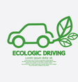 Ecologic Driving Concept vector image