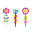 fantastic flowers composed of colorful details set vector image vector image