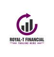 financial business traffic logo vector image