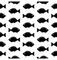Fish symbol seamless pattern vector image vector image
