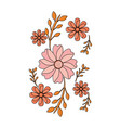 flowers emblem icon image vector image vector image