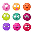 funny colorful cartoon fluffy ball fuzzy vector image