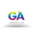 ga g a colorful letter origami triangles design vector image vector image