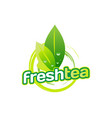 green fresh tea logo sign symbol icon vector image