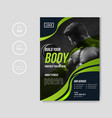 gym and fitness flyer template vector image