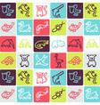 hand drawn icons set - animals 4 vector image