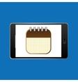 icon smartphone calendar agenda design vector image vector image
