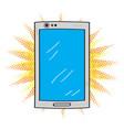 isolated comic smartphone icon vector image