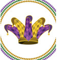 jester hat round icon vector image vector image
