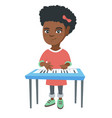 little african-american girl playing the piano vector image