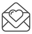 love letter line icon valentine card vector image