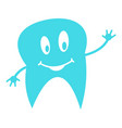 lower tooth logo icon flat style vector image vector image