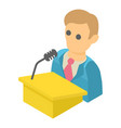 man speaker icon isometric 3d style vector image vector image